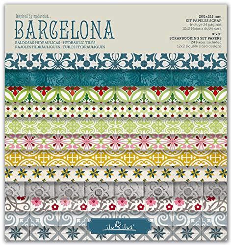 Scrapbook Barcelona - Pad 8''-203mm // Kit papeles para scrapbooking