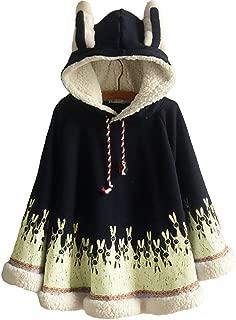 ASHER FASHION AsherFashion Womens Hooded Pullover Sweater Hoodie Cute Shawl Cape