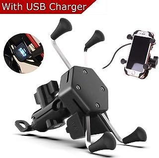 Fahrrad Universal f/ür alle Smartphone iPhone 5 6 7 8 X Plus Galaxy S7 S8 S9 Plus Schwarz 360/° drehbar Hochwertiges Aluminium Roller ATV LODD Handyhalterung f/ür Motorrad