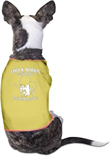 B-shop Chuck Norris Holds Air Hostage Pet Vest Sleeveless Funny Dog Cat Costume T-Shirt Small Dog Cat Clothes
