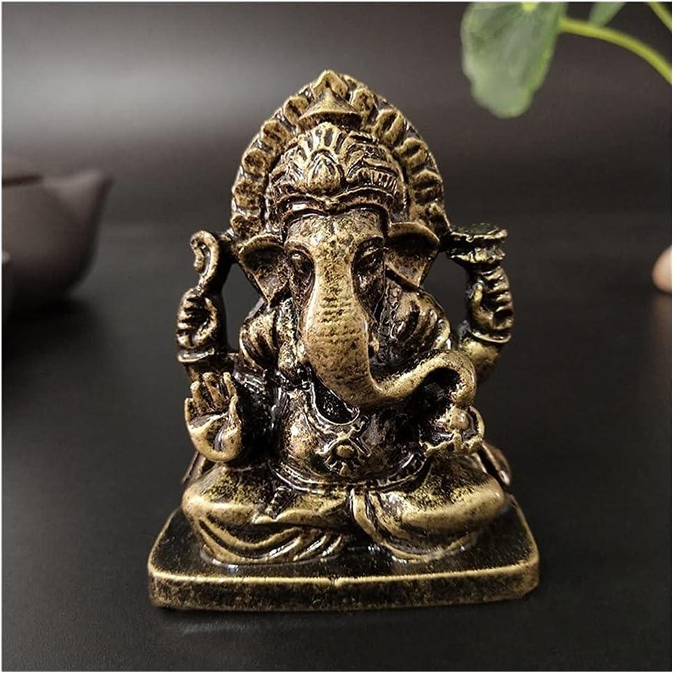 YYOBK Fox Ganesha Statue Buddha Ganesh Elephant God A surprise price trust is realized Sculpture F