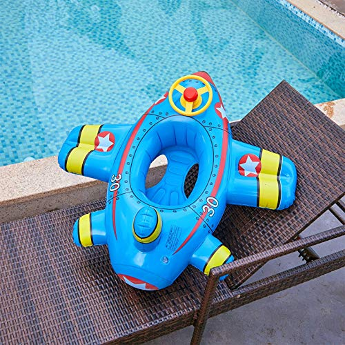 YTO Espesar el Anillo de natación Creativo para Aviones pequeños, Anillo de natación con Anillo de Asiento para niños, Suministros para Juegos de Agua(Color:C)