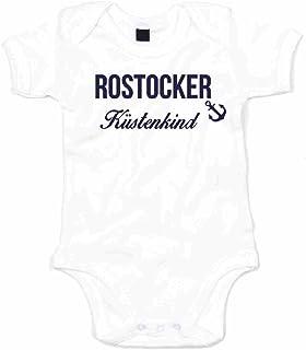 shirtdepartment Baby Body Rostocker Küstenkind Bodysuit Strampler Rostock Küste Meer See