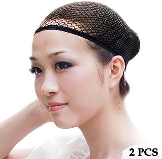 ewinever(R) 2pcs Wig Cap Hair Net Cover Halloween Costume Adult Womens Mens Kids Childrens