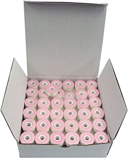 SuperB Pre-Wound Bobbins White Style L (Small) Polyester Pre-Wound Bobbins Thread, Box of 144