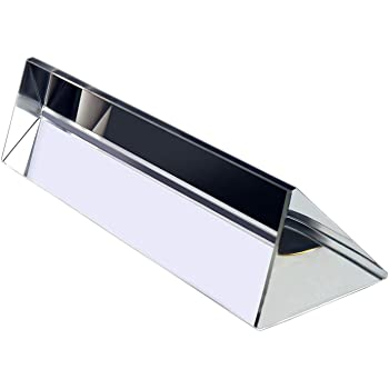 Samyo 3.9 Inch / 100mm Optical Glass Triangular Prism Triple Prism for Science Experiments Teaching Light Spectrum Physics or Photography