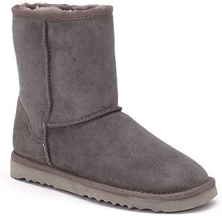 Women's Classic Short Twin-Face Sheepskin Boots