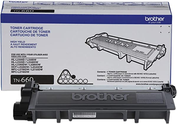 Brother MFC L2700DW TN660 Black Toner High Yield 2 600 Yield Genuine Original OEM Toner