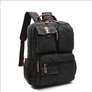 Novopus RucksackHerrn Taschen Segeltuch Schultasche Reißverschluss Kaffee/Armeegrün/Khaki:Dunkelblau