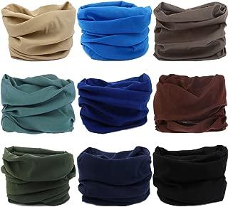 VANCROWN Headwear Wide Headbands Scarf Head Wrap Mask Neck Warmer