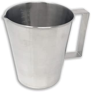 Edu-Labs Stainless Steel Graduated Lab Beakers with Handles, 1000mL