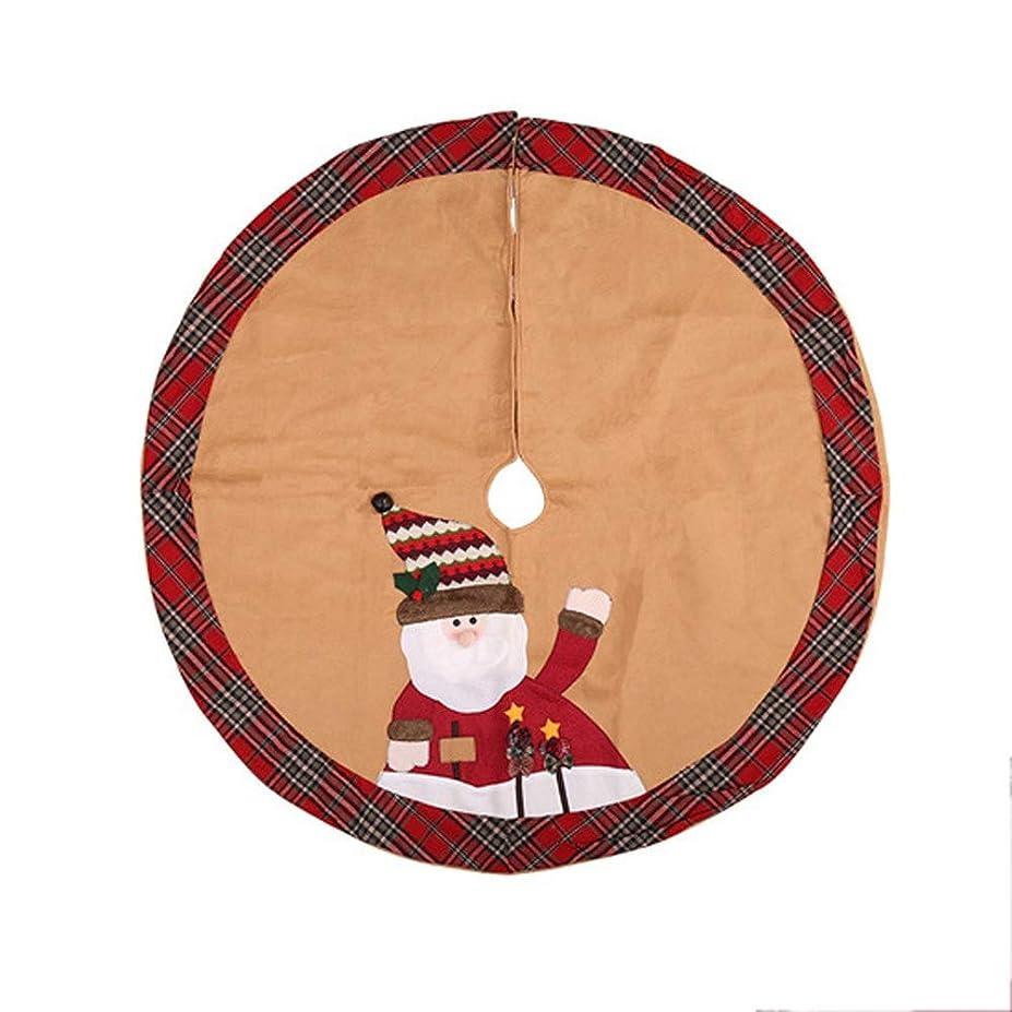 刺激する株式会社誓いクリスマスの装飾品クリスマスツリーのスカートクリスマスエプロンファブリッククリスマスツリーのスカート(105メートル/ 41.3インチ) (Color : B)