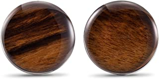 wood inlay cufflinks
