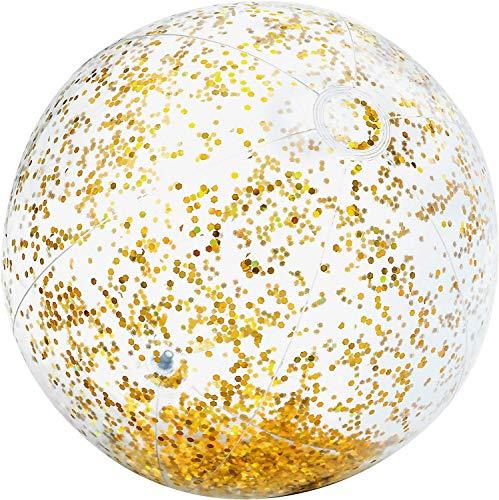 Bavaria Home Style Collection- Jumbo XL Wasserball 71 cm Glitzer für Strand , Meer , See , Freibad und Garten Wasser Ball Strandball Wasserbälle großer Wasserball Aufblasbarer Ball (Gold)