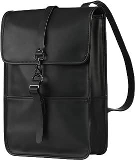 Cartinoe Women Laptop Backpack Vintage PU Leather Rucksack for Laptop 13 14 15 inches School Bag Purse Fashion Bag for Teens Girls School Work Daypack, Black