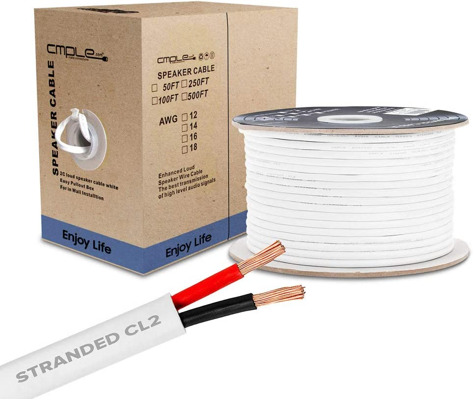 Cmple - 5 ☆ very popular 50FT 18AWG Speaker Wire Ranking TOP12 with C Cable 2 Conductor
