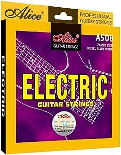 6 قطع من خيوط الجيتار الكهربائي أليس 0.09-.042 سلسلة خفيفة للغاية مطلية بالنيكل A508-SL