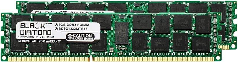 16GB 2X8GB Memory RAM for Dell PowerEdge T310, R310 240pin PC3-10600 1333MHz DDR3 RDIMM Black Diamond Memory Module Upgrade