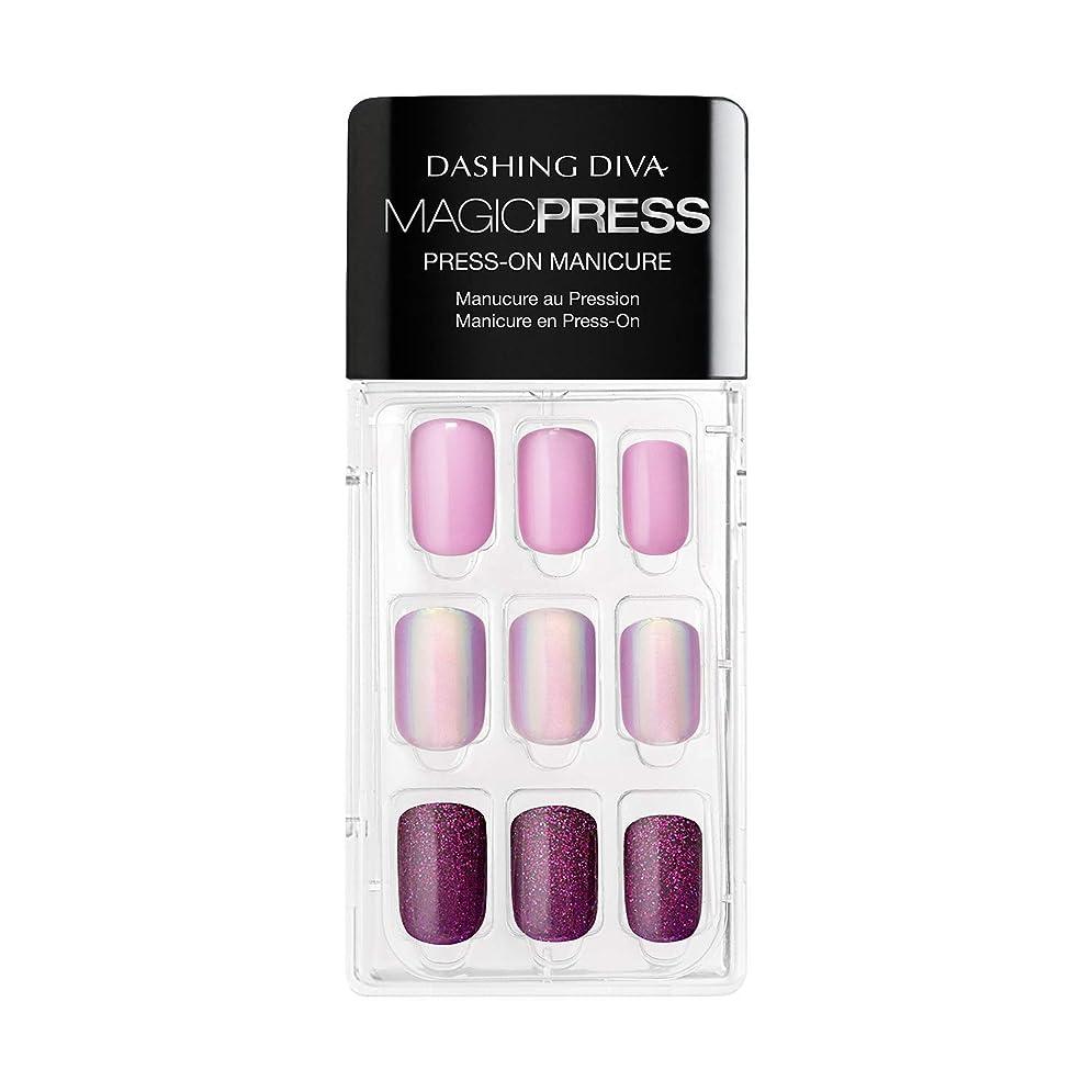 メタリックベテラン落ち着いてDashing Diva - Magic Press - Press-On Manicure - Northern Light - 30 Pieces