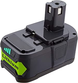 5000mAh Lithium-Ion 18 Volt Replace for Ryobi 18V Lithium Ion Battery P102 P103 P104 P105 P107 P108 P109 P190 for Ryobi 18-Volt ONE+ Plus Power Tool Battery