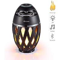 Dikaou LED Flame Atmosphere Bluetooth Speaker Table Lamp