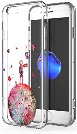 787626be524 YOEDGE Funda iPhone 6s Plus, Ultra Slim Cárcasa Silicona Transparente con  Dibujos Animados Diseño Patrón