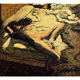 ボナール・「ベッドでまどろむ女あるいはしどけない女」 プリキャンバス複製画・ 【ポスター仕上げ】(8号相当サイズ)