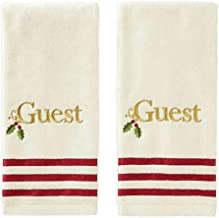 Saturday Knight Holly Embroidered Monogram Hand Towel Set, 2-Piece (Guest)