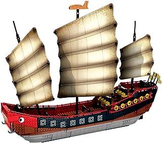 Brigamo Briques de construction Bateau Ninja, bateau à voile, 56 cm, jouet de construction