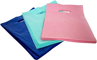 9x12 Glossy Merchandise Bags, Retail Shopping Bags with Handle, Gift Bags, Best Colors-Royal Blue, Pink and Teal. Small Si...