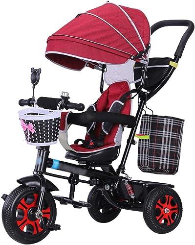 Todos los productos obtienen hasta un 34% de descuento. QDY-Cochecitos Moda Bebé Bebé Bebé Carretilla Triciclo de Niños Paseante Pliegue rápido Trike con arnés de Seguridad y Amortiguador para Niños en Bicicleta por 6 Meses - 5 años  increíbles descuentos