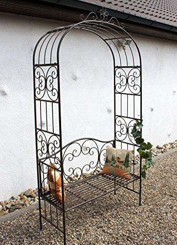 DanDiBo Rosenbogen mit Bank 120852 aus Metall 250 cm Gartenbank Spalier Pergola Kletterhilfe - 2