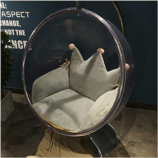 Cojín de asiento de silla con corona, cojín redondo de mimbre para colgar, cojín de silla de mimbre sólido, cojín de suelo con cojines, cojín para silla de oficina, apoyo lumbar (color: gris)