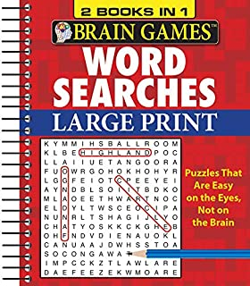 Brain Games - 2 Books in 1 - Word Searches (Large Print)