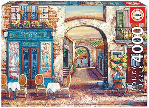 Educa Borras - Genuine Puzzles, Puzzle 4.000 piezas, Le Petit Café (18014)