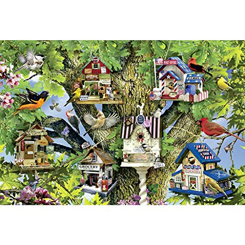 Puzzels 1000 Stuks, Vogelhuisje, Houten Puzzel Woondecoratie Onderwijs Kinderen Decompressiespeelgoed Set -5.9