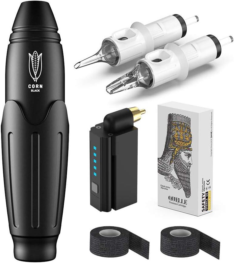 Hawink Rotary Tattoo Machine Pen Kit with Wireless Tattoo Power Supply One...