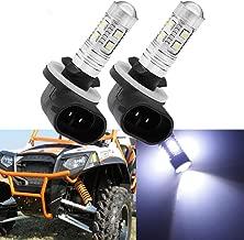 8000K Light Blue 881 886 LED Headlight Bulbs 50W For 1993-2016 Polaris Sportsman Ranger 400 500 700 800 RZR 570