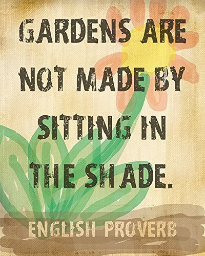 English Proverb Print About Gardens