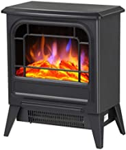 YLJYJ Estufa eléctrica portátil Que calienta la Chimenea Fuego eléctrico 1800W con Efecto de Llama 3D con Estufa de leña y 2 configuraciones de Calor