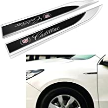 Duoles New 3D Car Logo Car Emblem Chrome Stickers Decals Badge Labeling for Cadillac Escalade ATS SRX XTS CTS Emblem Chrome,Pack of 2