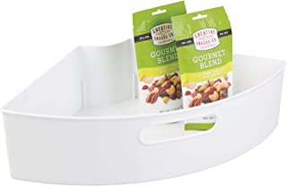 iDesign Plastic Lazy Susan Cabinet Storage Bin, 1/4 Wedge Container for Kitchen, Pantry, Counter, BPA-Free, 16.5