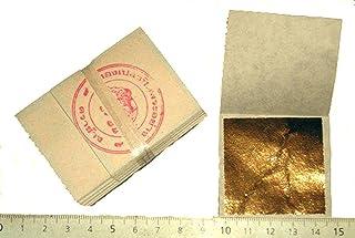 Lote de 50 hojas de oro, 45 X 45 mm de 24 quilates en la base de 100% PURE