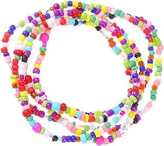 SUPVOX 5Pcs Waist Bead Colorful Bracelet Bead Belly Bead African Waist Bead Body Chain Beaded Belly Chain for Woman Girl