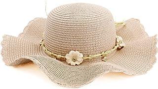 Sombreros Sombreros Señoras Sombrero para El Sol Sombrero para El Sol Playa Al Aire Libre Sombrero para El Sol Sombrero para La Playa Sombrero De Paja (Color : Pink)