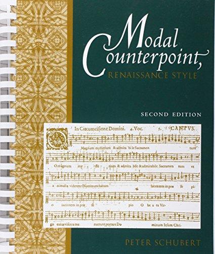 Modal Counterpoint: Renaissance Style