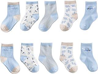 Fatu Fashion Baby Boy Girl Socks Toddler Infant Newborn Non-skid Ankle Cotton Socks Unisex All Weather Outdoor (Blue, s)