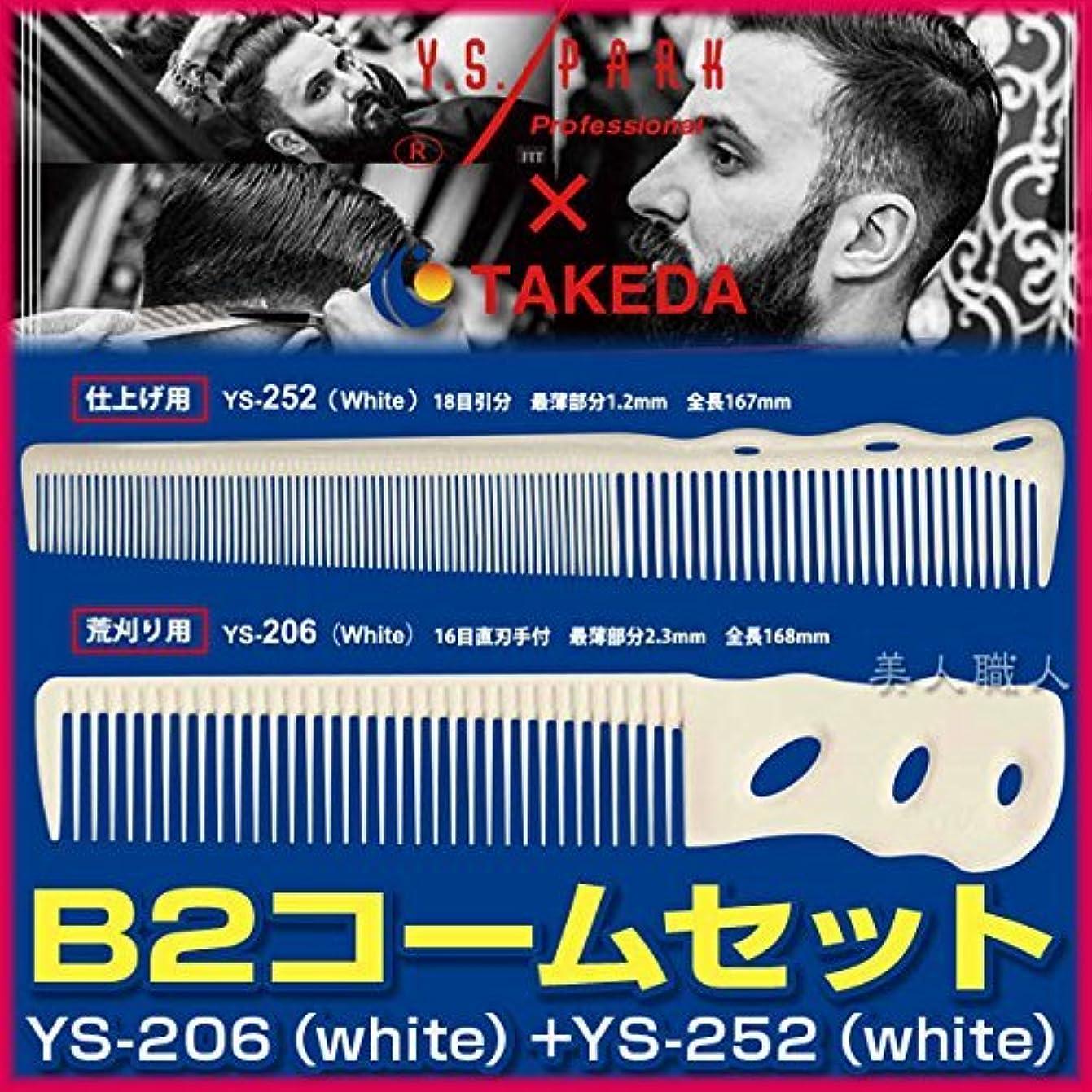 可能にする劇作家であるB2コームセット 【YS-206(white)+YS-252(white)】
