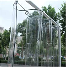 Glashelder dekzeil waterdicht high-performance transparant zeil met oogjes verdikt PVC zacht glas balkon-regengordijn, 20 ...
