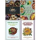 Mowgli Street Food [Hardcover], Fresh & Easy Indian Street Food, Indian Vegetarian Cookbook, Dal Medicine Cookbook 4 Books Collection Set